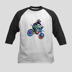 Super Crayon Colored Dirt Bike Car Baseball Jersey