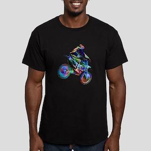 Super Crayon Colored Dirt Bike Careening D T-Shirt