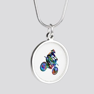 Super Crayon Colored Dirt Bike Careening Necklaces