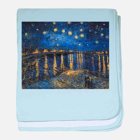 Van Gogh Starry Night Over The Rhone baby blanket