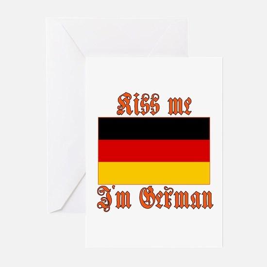 Kiss Me I'm German Greeting Cards (Pk of 10)