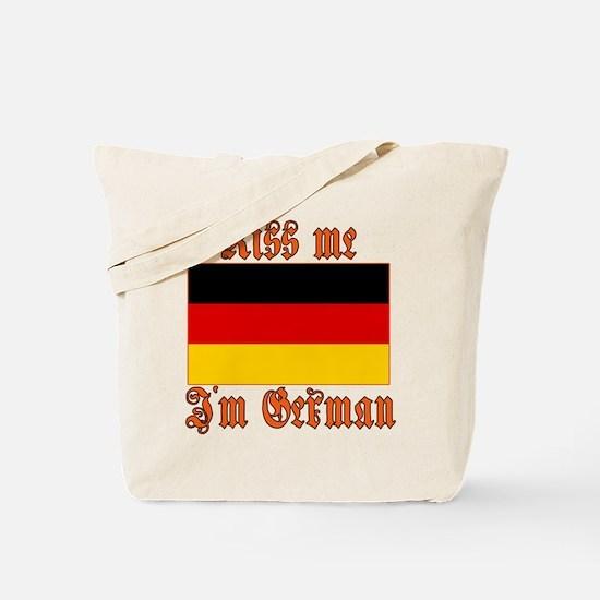 Kiss Me I'm German Tote Bag