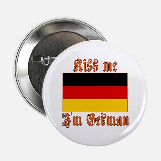 Kiss Me I'm German Button