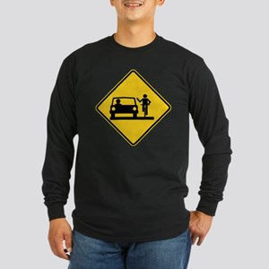 Move Over Jerk Long Sleeve Dark T-Shirt