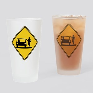 Move Over Jerk Drinking Glass