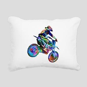 Super Crayon Colored Dir Rectangular Canvas Pillow