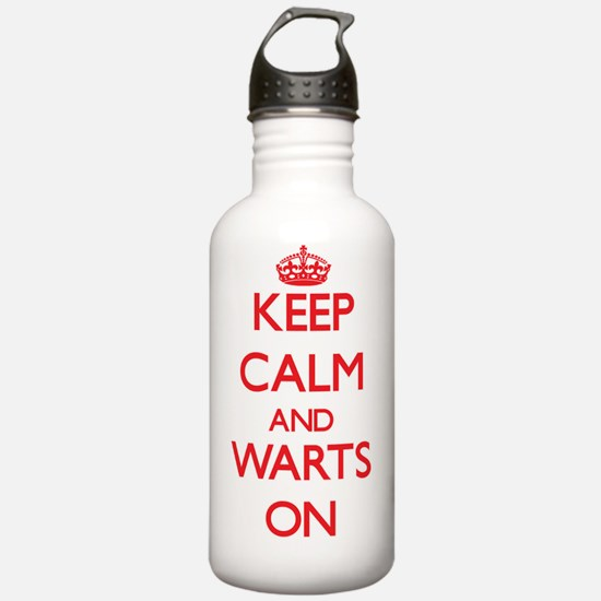 Keep Calm and Warts ON Water Bottle