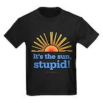 Global Warming Sun Kids Dark T-Shirt