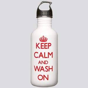 Keep Calm and Wash ON Stainless Water Bottle 1.0L