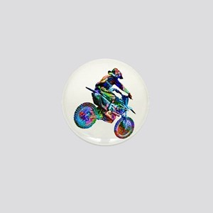 Super Crayon Colored Dirt Bike Careeni Mini Button