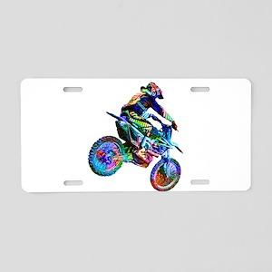 Super Crayon Colored Dirt B Aluminum License Plate