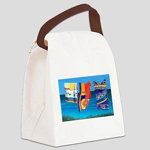 Beach Towels artwork Canvas Lunch Bag