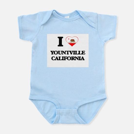 I love Yountville California Body Suit