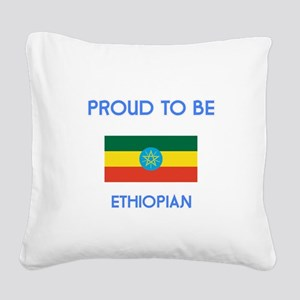 Proud to be Ethiopian Square Canvas Pillow