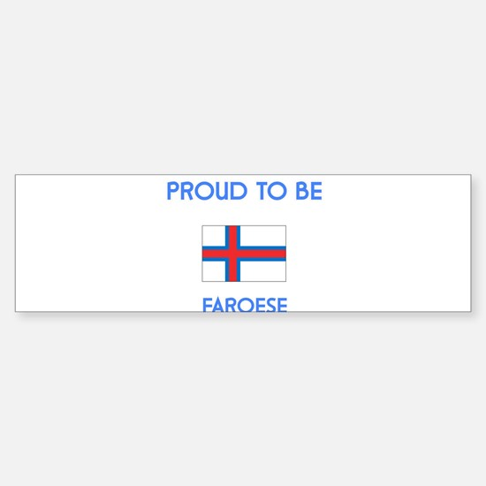 Proud to be Faroese Bumper Car Car Sticker