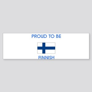 Proud to be Finnish Bumper Sticker