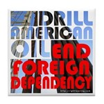 American Oil Tile Coaster