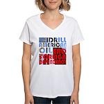 American Oil Women's V-Neck Tee