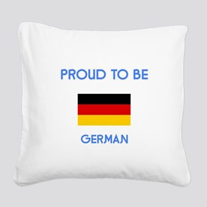 Proud to be German Square Canvas Pillow