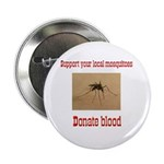 Donate Blood Mosquito Button