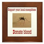 Donate Blood Mosquito Framed Tile