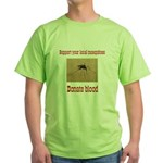 Donate Blood Mosquito Green T-Shirt