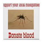 Donate Blood Mosquito Tile Coaster