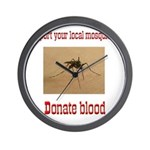 Donate Blood Mosquito Wall Clock