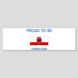 Proud to be Gibraltar Bumper Sticker