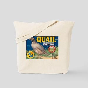 Quail Bartlett Pears Tote Bag