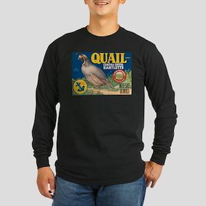 Quail Bartlett Pears Long Sleeve Dark T-Shirt