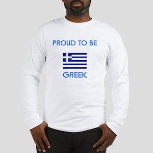 Proud to be Greek Long Sleeve T-Shirt