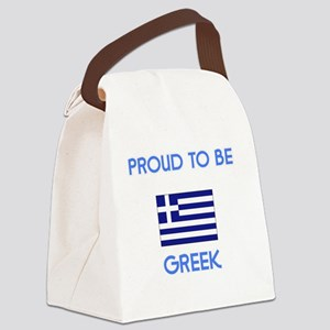 Proud to be Greek Canvas Lunch Bag