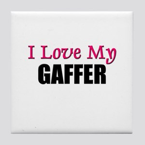 I Love My GAFFER Tile Coaster