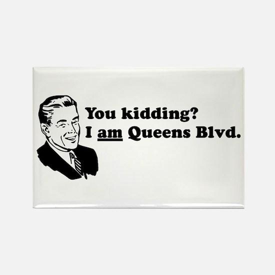 I Am Queens Blvd - Retro Rectangle Magnet