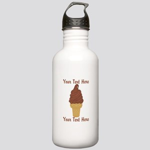 Personalized Chocolate Stainless Water Bottle 1.0L