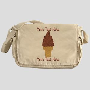Personalized Chocolate Ice Cream Messenger Bag