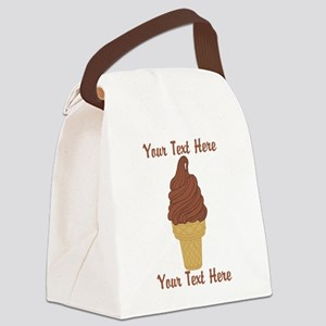 Personalized Chocolate Ice Cream Canvas Lunch Bag