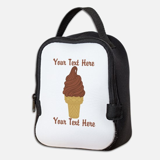 Personalized Chocolate Ice Crea Neoprene Lunch Bag
