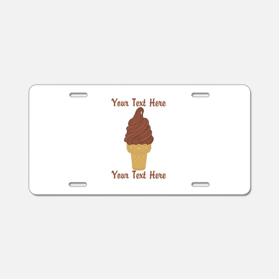 Personalized Chocolate Ice Aluminum License Plate