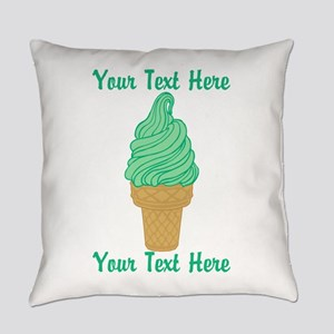 Personalized Mint Ice Cream Everyday Pillow