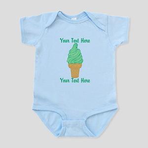 Personalized Mint Ice Cream Infant Bodysuit