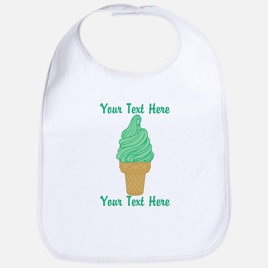 Personalized Mint Ice Cream Bib