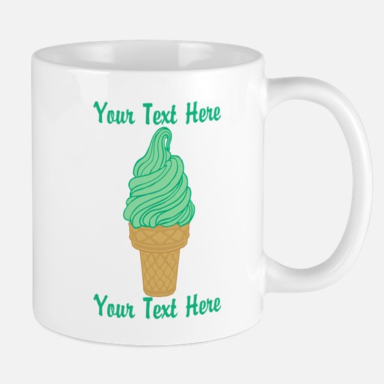 Personalized Mint Ice Cream Mug
