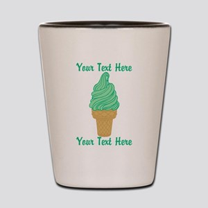 Personalized Mint Ice Cream Shot Glass
