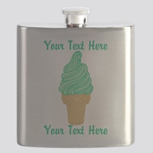 Personalized Mint Ice Cream Flask