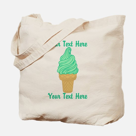 Personalized Mint Ice Cream Tote Bag
