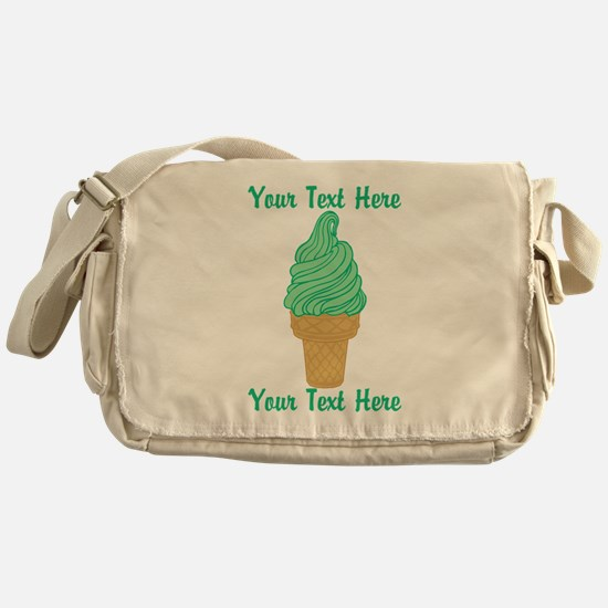 Personalized Mint Ice Cream Messenger Bag
