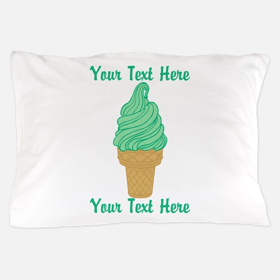 Personalized Mint Ice Cream Pillow Case