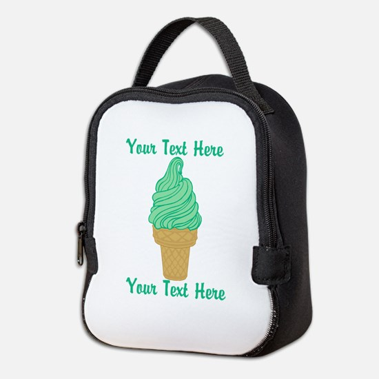 Personalized Mint Ice Cream Neoprene Lunch Bag